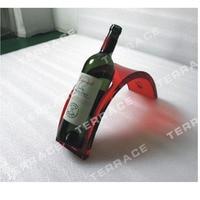 Single Acrylic wine bottle rack ,Perspex beer bottle holder