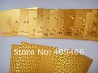 новые горячая распродажа золотой фольги игральные карты с золотой цвет для подарки с бесплатная доставка