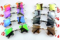 стеклами солнцезащитных очков круглые очки харадзюку стиль ретро женщин в европе и америке вентилятор касуби