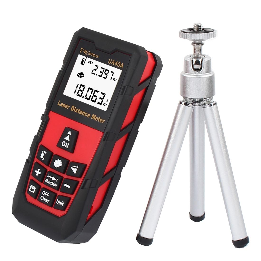 ФОТО UXCELL DC Voltage 131Ft 40M Mini Handheld Digital Laser Distance Meter Rangefinder Measure Tape Diastimeter Red With Tripod
