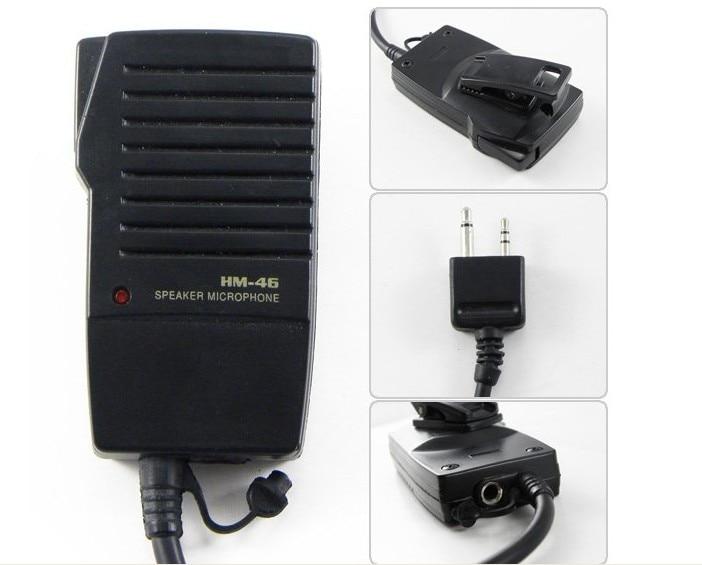HM-46 Portable Radio Speaker Mic For IC-V85 IC-V8/U8/V82/U82/V85 F11/F21/F14/F16/F26/F43GT IC-GW1/V68 IC-W21A/2GXA