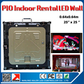 P10 indoor led video wall 640x640mm rgb full color panel rental aluminum led wall cabinet