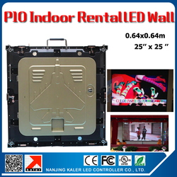 TEEHO P10 indoor led video wall 640x640mm 1/8 scan SMD3528 rgb full color panel rental aluminum led wall cabinet videowall board