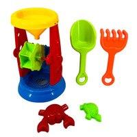 5pcs Kids Funny Tools Sand Play Toys Set Hourglass Water Beach Children Seaside Bucket Shovel Rake