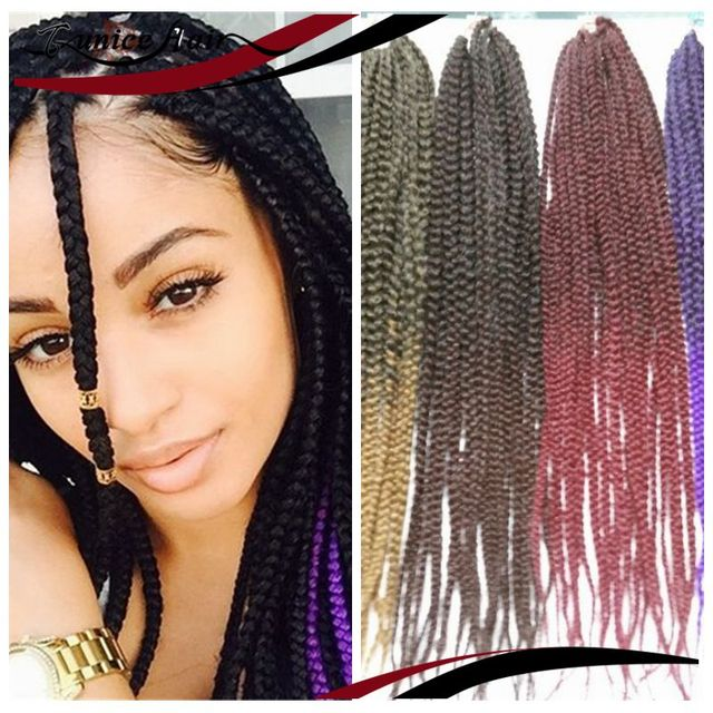 Freetress Synthetic Hair Crochet Braid Medium Box Braids 6 Pack 1b