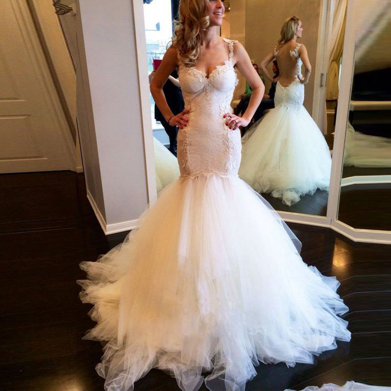 Omy082 Sexy Fitted Lace Trumpet Wedding Dress With