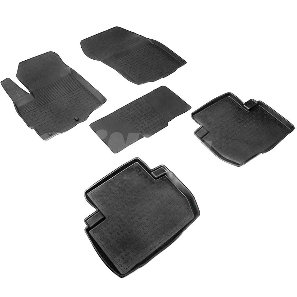 For Mitsubishi Outlander 2013-2019 rubber floor mats into saloon 5 pcs/set Seintex 82129 комплект чехлов на весь салон seintex 85690 mitsubishi outlander 3 2013 black