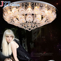 המחיר הטוב ביותר ישיר יצרן מודרני LED קריסטל תקרת מנורת את טווס סלון גופי שינה