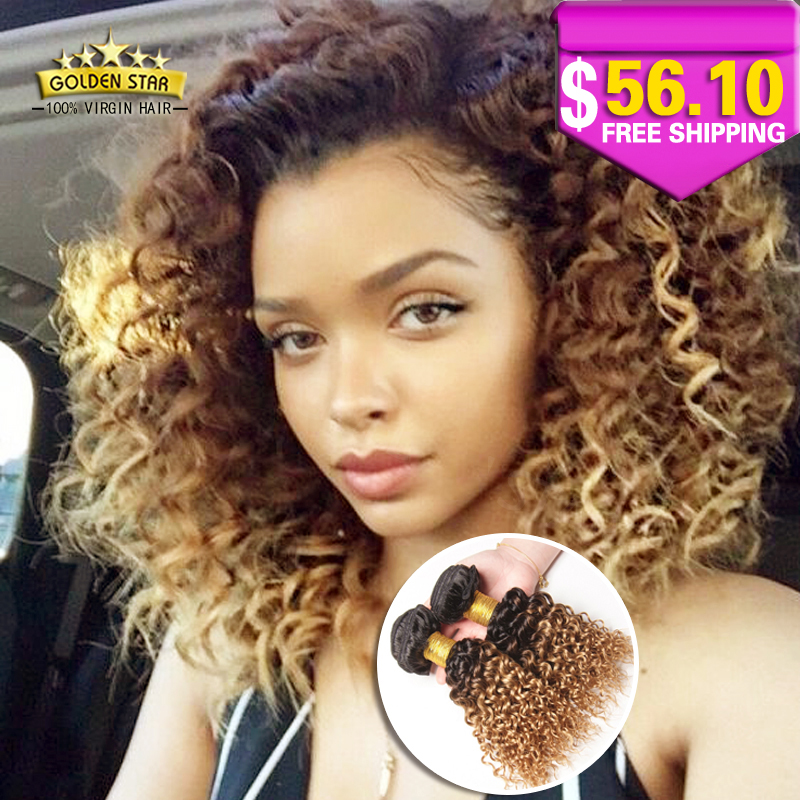 Remarkable Aliexpress Com Buy Newest 8A Ombre Brazilian Kinky Curly Virgin Short Hairstyles Gunalazisus