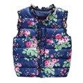 Зимние детские Куртки Дети Девушки Жилет Сладкий Цветочный Вниз Детская Одежда Теплый Жилет Для Детей