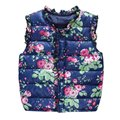 Winter Children's Jackets Kids Girls Vest Sweet Floral Down Children Clothing Warm Waistcoat For Kids