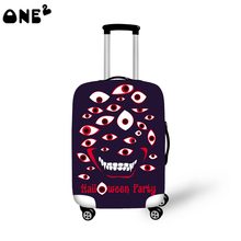 2016 ONE2 Design eyes monster pattern printing cover apply to 22,24,26 inch kids custom wholesale travel elastic luggage cover