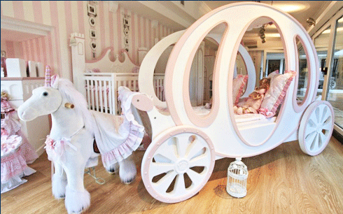 Princess Carriage Bed For Child Room Furniture Give A Fairy Tale For Girls