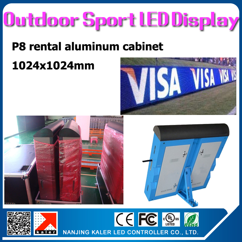 TEEHO 6pcs/lot P8 outdoor led display video wall 1.024x1.024m with LINSN TS802 sending card RV908 receiving card and road casesTEEHO 6pcs/lot P8 outdoor led display video wall 1.024x1.024m with LINSN TS802 sending card RV908 receiving card and road cases