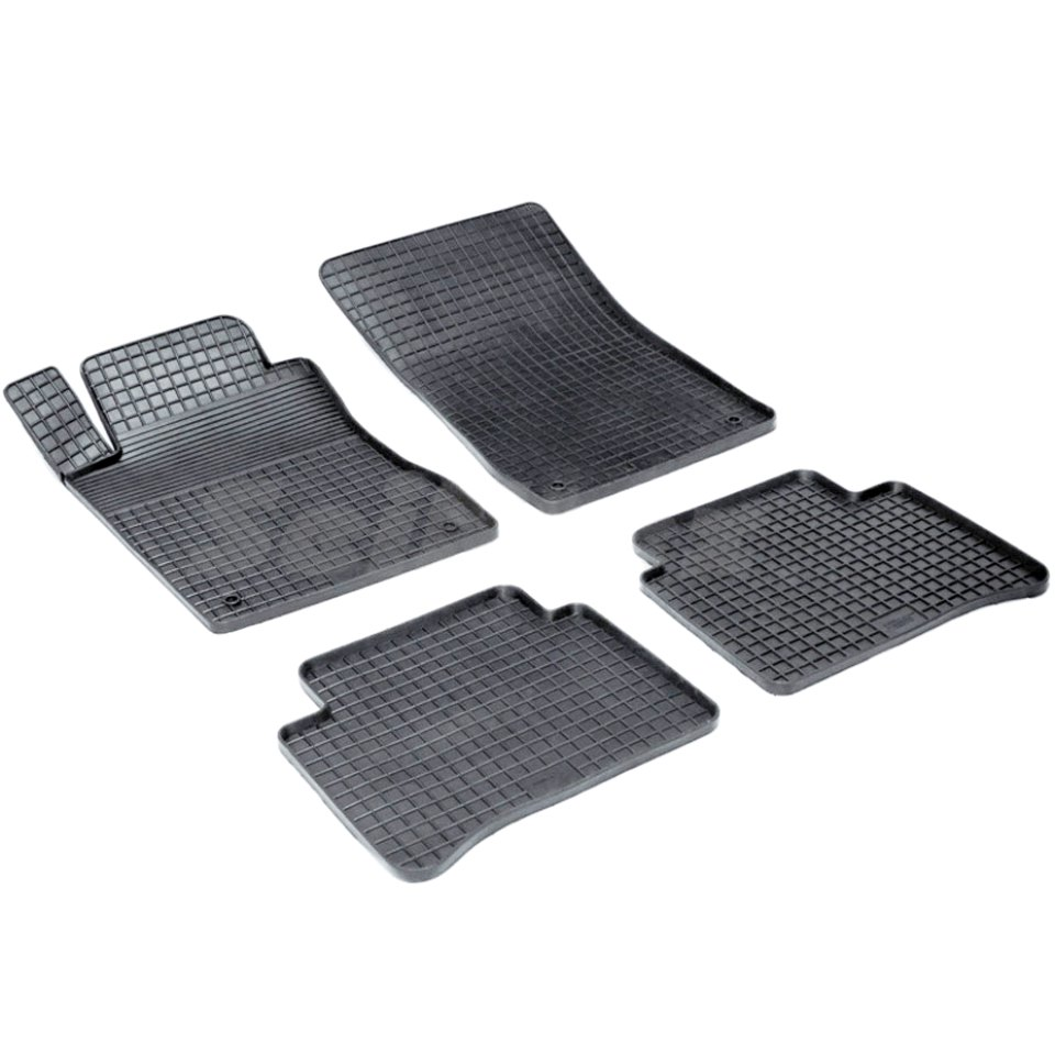 Rubber grid floor mats for Mercedes-Benz E-class W211 2002 2003 2005 2006 2007 2008 2009 Seintex 00886