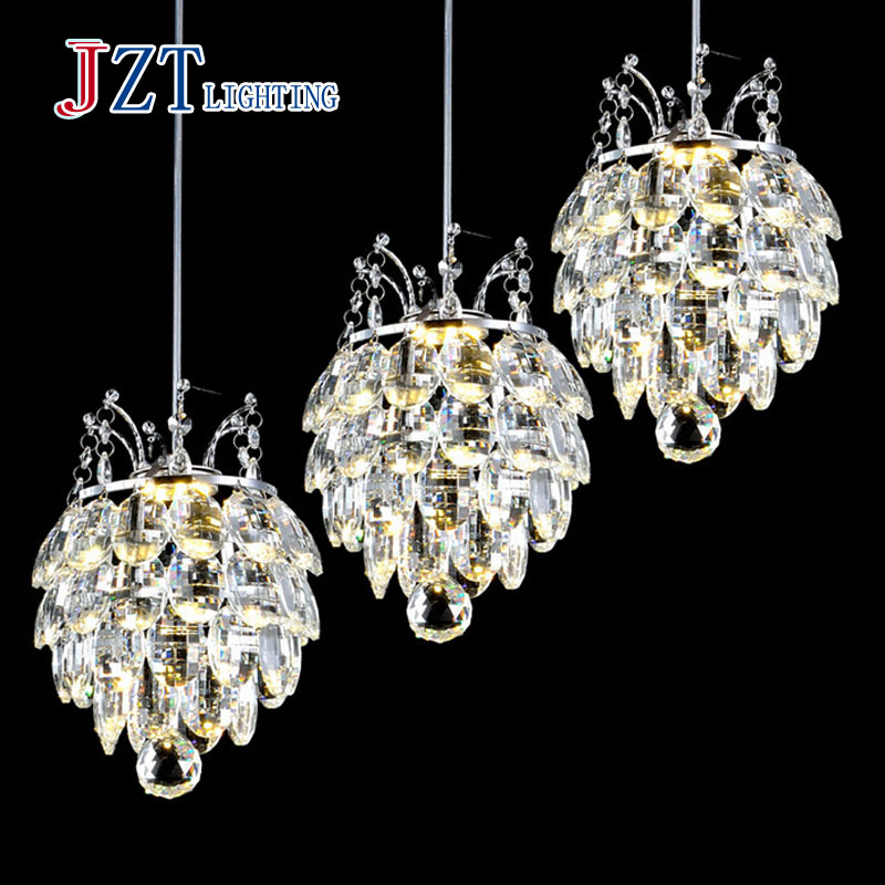 T 2016 NEW Crystal Light with LED chip Modern Fashion Luxury lamps for bar coffee shop The corridor home 1or3 light freeshipping 2016 new crystal light with led chip modern fashion luxury lamps for bar coffee shop the corridor home 1or3 light free shipping