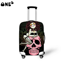 2016 ONE2 Design sexy girl pattern printing cover apply to 22,24,26 inch ladies custom wholesale travel elastic luggage cover