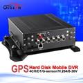 free shipping full d1car dvr with gps h.264 hd hdd mdvr  RJ45 interface pc smart phone playback gps track recording black box