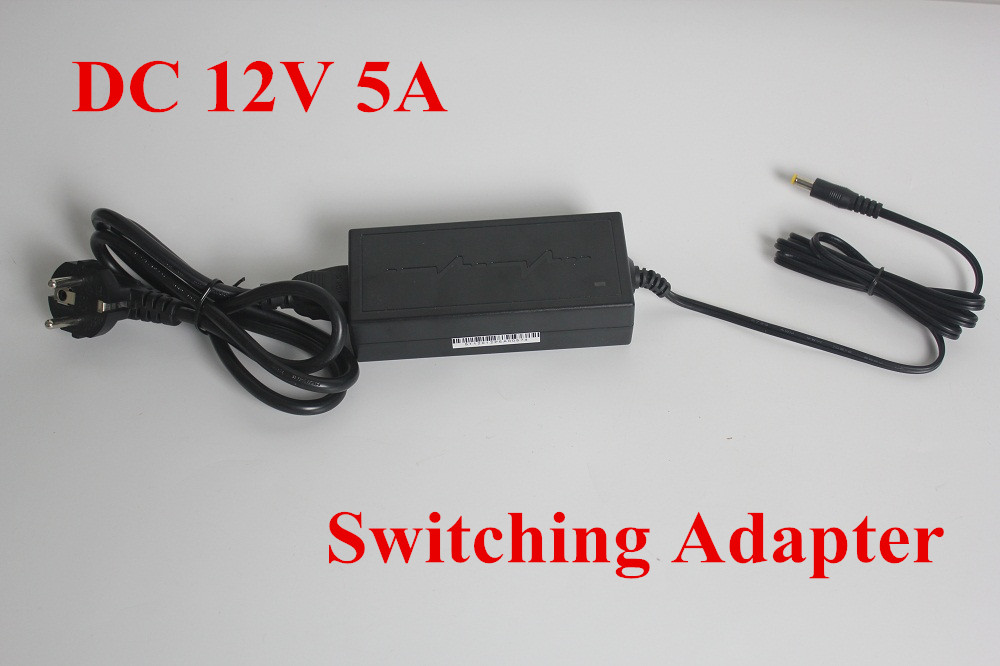 цены на  2PCS Hot sale AC 100V-240V Converter Power Adapter DC 12V 5A Power Supply  For EU/US/UK Plug