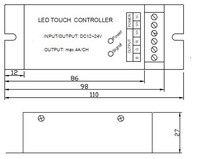 диммер рф диктант управления цвет DC12V/144 вт, 24В/288 вт светодиодный RGB контроллер с 8 ки РФ сенсорный пульт, яркость скорость и сожалений