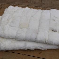 Natural Rex Rabbit Fur Plates / Real White Rex Rabbit Fur Skins For Sale