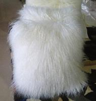 Wholesale Tibetan Mongolian Lamb Fur Pillow White Sheep Skin Throw Pillow