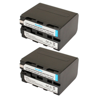 Durapro 2pcs 7200mAh 7.2V NP F960 NP F970 NP F970 NP F960 Camcorder rechargerable batteries for Sony NP F550 F770 F750 F960 F970