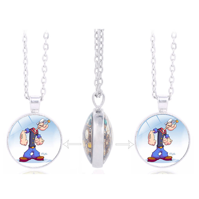 New Listing TV Cartoon Classics: Popeye the Sailor Picture Charm Double Sided Pendant Kids Birthday Favors and Gift