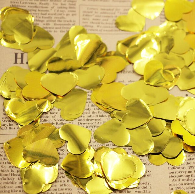 US $10 5 |Gold Love Heart Foil Table Scatters Confetti Engagement Wedding  Hearts Sweet on Aliexpress com | Alibaba Group