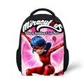 La moda de nueva milagrosa mariquita mochila escolar niños mochila back pack ocio cabritos de las muchachas de mochila para estudiantes de primaria