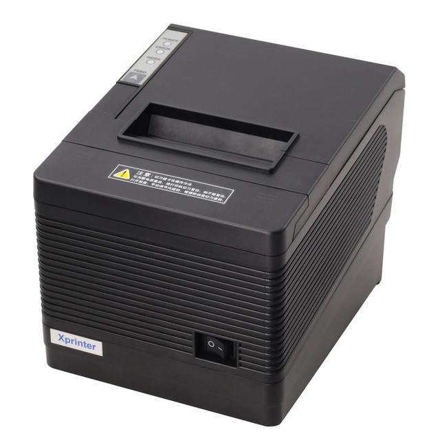 POS80 USB + LAN + RS232 de Alta calidad de 80mm impresora térmica de recibos XP-260III máquina automática de corte velocidad de impresión puerto USB