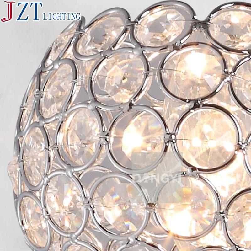 М Современный crysatl Gloden настенный светильник Спальня Круглая Лестница тянуть переключатель Настенные светильники E14 настенные светильники ...