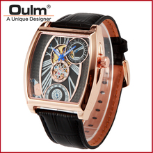 2016 luxury brand oulm elegance fashion watches, alloy case PNP and rose gold plating watches HP3402