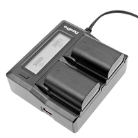 Durapro 2pcs LP E6 LP E6 LPE6 Camera Battery LCD Dual Rapid Quick Charger For Canon