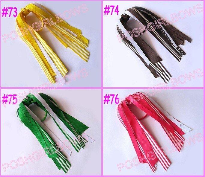 500 шт о волос Лук резинка для волос с бахромой разноцветные резинка для волос с бахромой