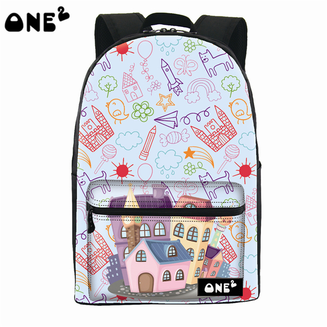 ONE2 design architectural pattern leisure backpack beautiful china ...