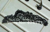 10 шт. крючком вышивка кружева appliaues - черный