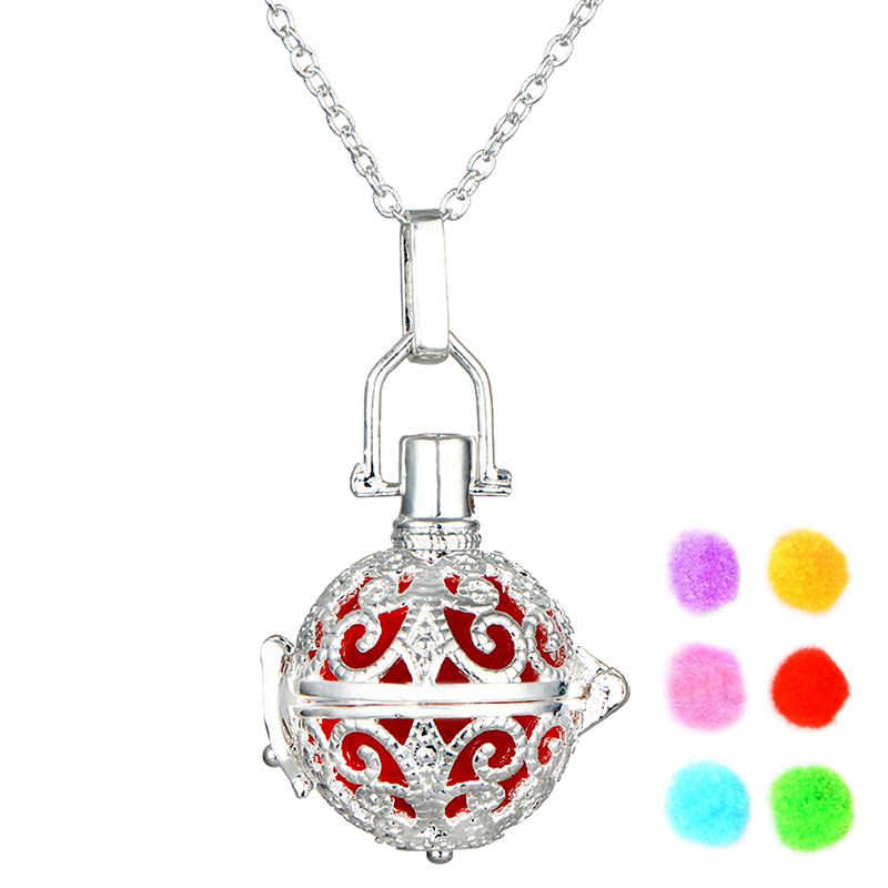 Hollow Out Aromatherapy Necklace Women As