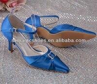 горячий продавать дешевые королевский синий атлас машина свадьба партия обуви 8 см кабель груза падения