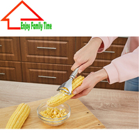 New Design Stainless Steel Accesorios De Cocina Novelty New Gadgets Corn Stripper Cob Remover Cooking Tools
