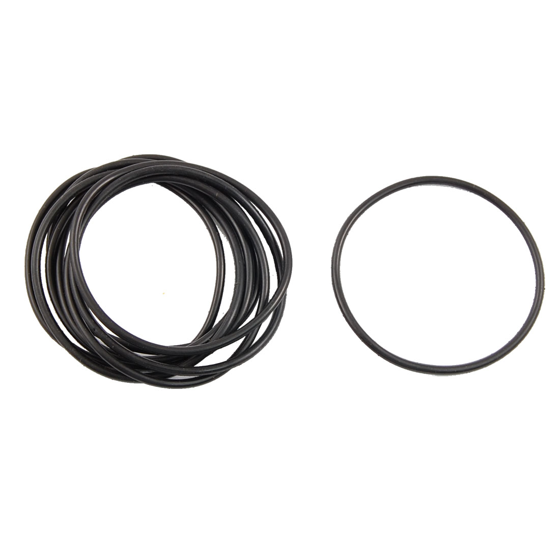 UXCELL Metric O Rings Black Nitrile Rubber 46Mm Od 2Mm Thick 10 Pcs