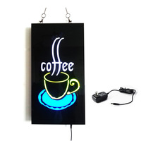 NEW Cheap Custom Epoxy LED Shop Open Signs Coffee Business LED OPEN SIGN Animated Motion DISPLAY