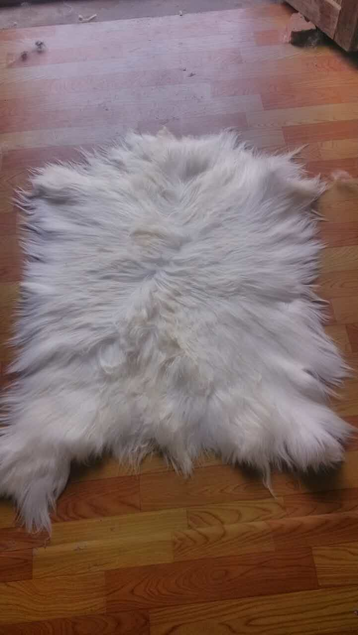 Tibetan Lamb Rug Mongolian Lamb Skins / Black Goat Fur - Arts, Crafts and Sewing - Photo 6