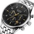 Burei relojes de lujo de los hombres relojes deportivos reloj de cuarzo analógico reloj de pulsera de acero completo 3atm impermeable masculino mens reloj montre homme