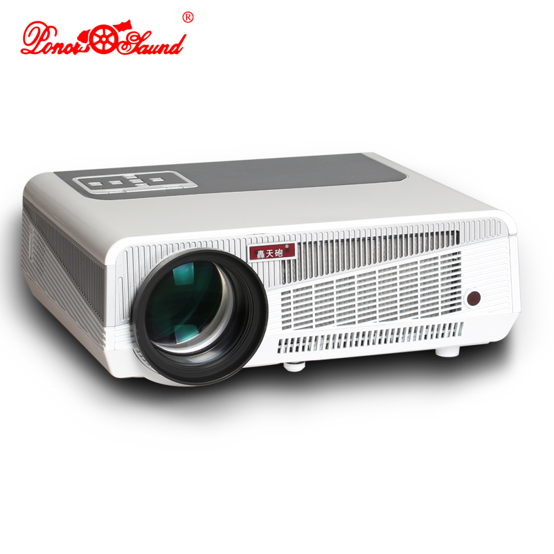 Poner Saund Android 4.4 LED projector 5500Lumens 1280*800P 3D for business home theater connect TV PC with AV HDMI VGA usb ejiale 100w 2200lm led projector w dual hdmi vga av usb tv for home theater business shool