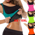 XS to 5XL Plus size waist corset sweat enhancing thermal sexy vest sweat waist cincher waist trainer hot shaper sauna shirt E87