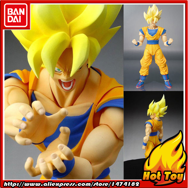 100 Original BANDAI Tamashii Nations S H Figuarts SHF Action Figure Super Saiyan Son Goku from