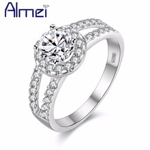 Fashion Zirconia Stone Silver Rings for Women Engagement Girls Valentine