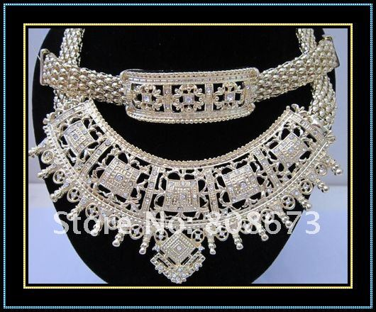American wedding jewelry set gold tone jewelry for wedding bridal party gift