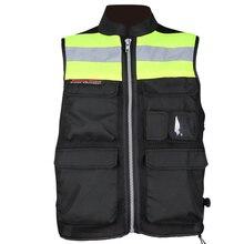 Motorcycle Reflective Riding Tribe JK32 Safety clothing high visibility Race jacket Protective roadway vest black M-XXXL Men